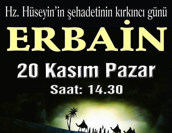 Halkalı'da Erbain (20 Kasım Pazar 14:30)