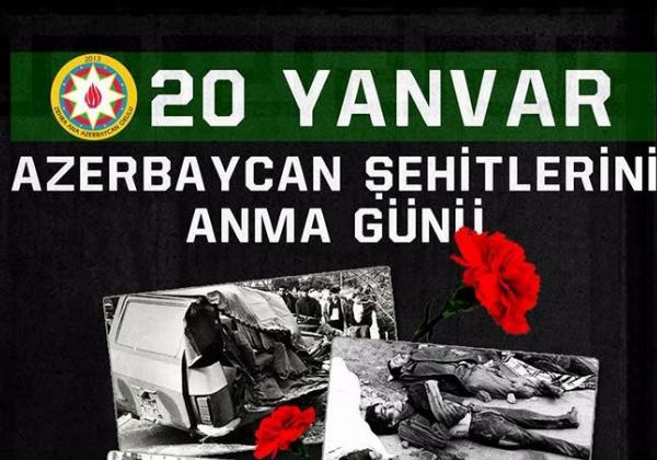 20 Yanvar Azerbaycan Şehitleri SKSM'de Anılacak