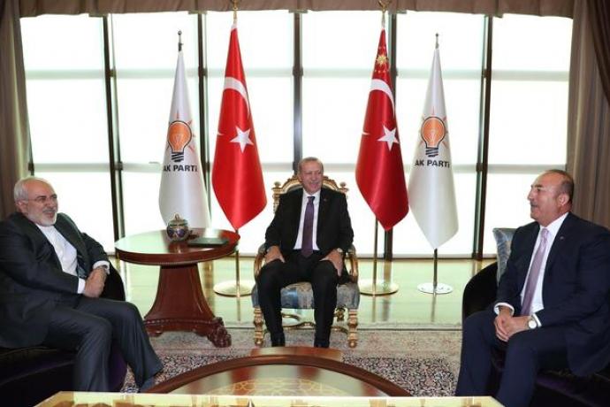 İran Dışişleri Bakanı Cumhurbaşkanı Erdoğan İle Görüştü