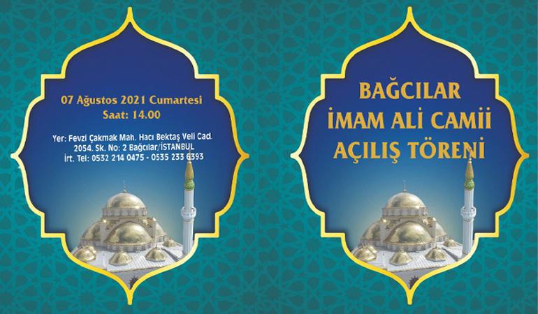 Bağcılar İmam Ali Camii İbadete Açılıyor