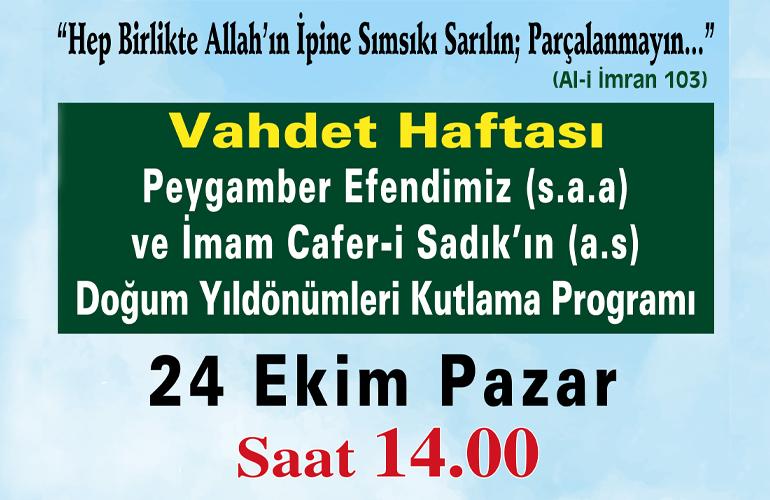 Zeytinburnu'nda Kutlu Doğum Programı